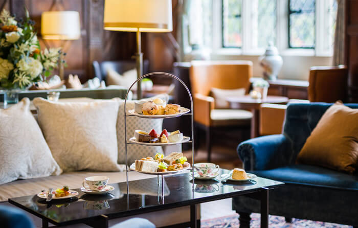 Afternoon tea at Eastwell Manor